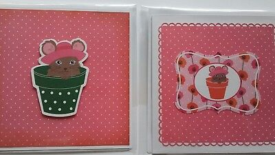 Hand made cards x 2