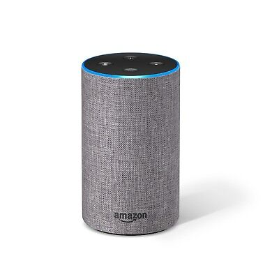Amazon Echo (2nd Generation) Smart Assistant - Heather Gray Fabric - BRAND NEW