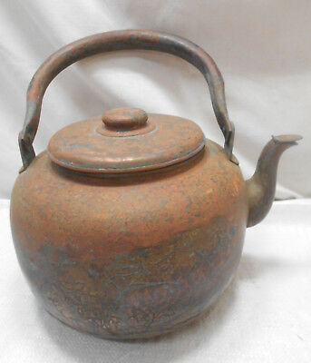 Antique Large Copper Kettle Pot Hibachi Tea Ceremony Handmade Japanese #25