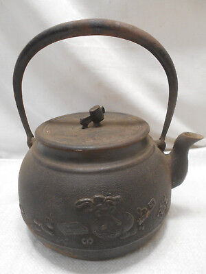 Antique Cast Iron Kettle Pot Hibachi Tea Ceremony Handmade Japanese #26