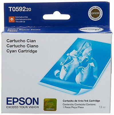 Genuine Epson T0592 Cyan Ink Stylus R2400 (New / No Box)