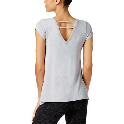 Calvin Klein Performance 1224 Womens Gray Double-V Shirts & Tops Athletic M BHFO
