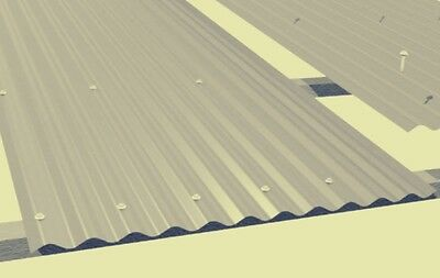 CORRUGATED IRON ROOFING ZINCALUME. Cut to size from 1mt long. (Price per meter)