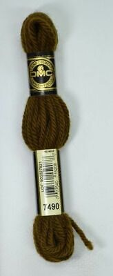 DMC TAPESTRY WOOL, 8m SKEIN, Colour 7490 VERY DARK HAZELNUT BROWN