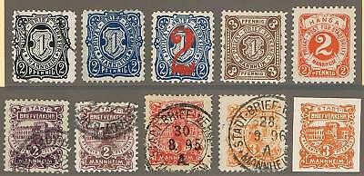 DEUTSCHE STADTPOST MANNHEIM kl. Sammlung ex A1...C8*/°= GERMAN LOCALS COLLECTION