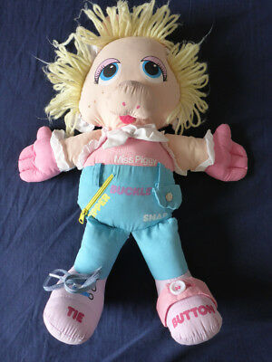1985 - Muppet Babies - Baby Miss Piggy - Teach Me how Doll - Rare HTF
