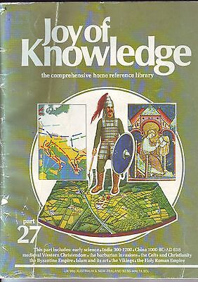 """COLLECTOR'S BOOK """" JOY of KNOWLEDGE """" HOME REFERENCE LIBRUARY 1961 _ USED"""