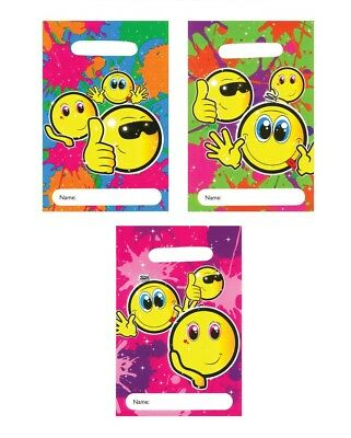 Job Lot of 25-100 x FILLED SMILEY PARTY BAGS Wholesale Bulk Buy with 5 GIFTS!