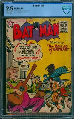 Batman # 95  The Ballad of Batman !  CBCS 2.5 scarce book !