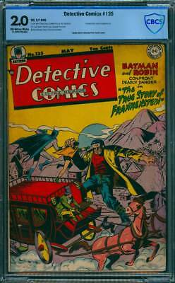 Detective Comics # 135 Story of Frankenstein ! CBCS 2.0 scarce Golden Age book !