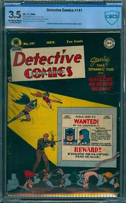 Detective Comics # 141  Gallery of Heroes !  CBCS 3.5 scarce Golden Age book !