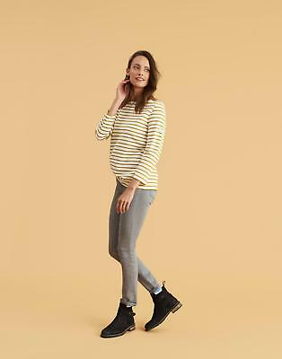 Joules Harbour Jersey Top Shirt in Cream Caramel Stripe