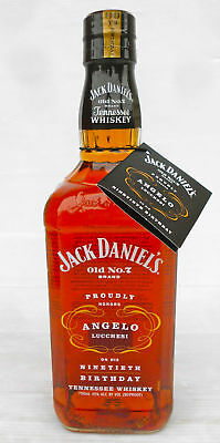 Jack Daniels Angelo Lucchesi 90th Birthday Limited Edition Bottle 750ml 45% Rare