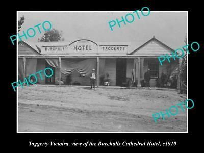 Old Large Historical Photo Of Taggerty Victoria View Of The Cathedral Hotel 1910