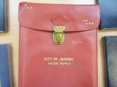 Vintage City of Jeddah / Saudi Arabia Water Supply Maps 1947 **Rare**