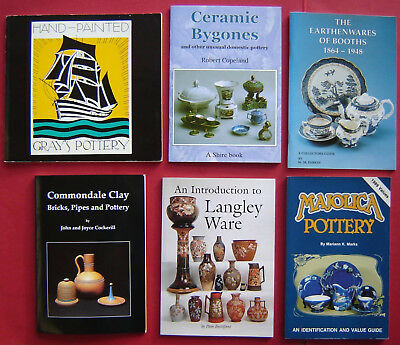 6 Booklets on Pottery Langley Booths Grays