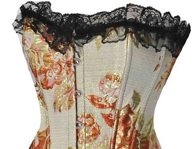 Colorful Floral Corset With G-String Ella Bidoe