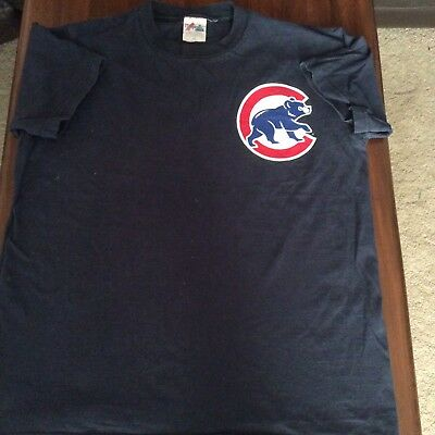 Chicago Cubs T Shirt Vintage Retro Zambrano Majestic