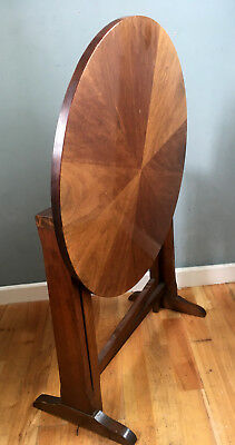 Vintage ART DECO Period Tilt Top Gloss Dodecagon Star Veneer Fold Away Table 30s