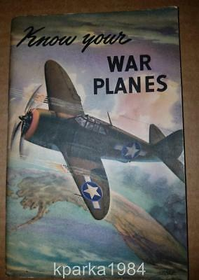 1943 Coca Cola -Know Your War Planes - Aircraft Spotter Booklet - Coke