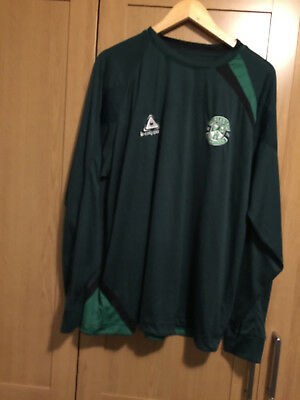 HIBERNIAN le coq sportif  DARK GREEN LONG SLEEVED TOP FAB CONDITION SIZE L