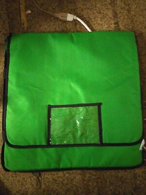 """New 20"""" x 20"""" x 12""""Green Vinyl Insulated Pizza Delivery Bag"""