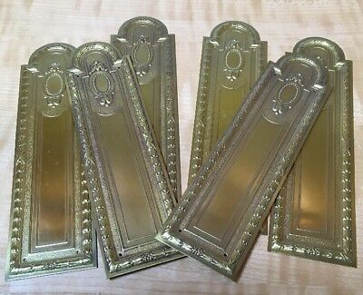 Vintage Brass Push Plate Embossed Victorian Six Available NOS