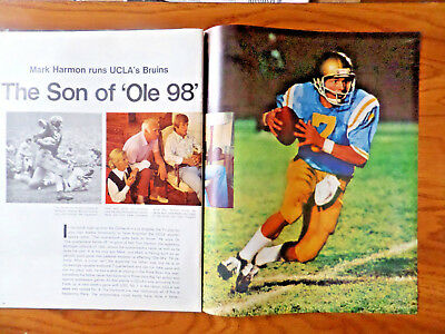 1972 Article Photo Ad The Son of Ole 98 Mark Harmon Runs UCLA's Bruins Football