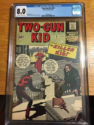 Two Gun Kid 61 Cgc 8.0 Ow/w Pages  2Nd Highest Graded 2Nd Kirby Two Gun Kid