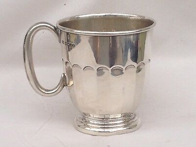 A Sterling Silver Christening Cup Or Tankard, 1935 ( With Jubilee Hallmark )