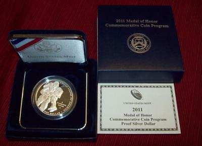2011 P Proof Medal Of Honor Silver Dollar Commemorative .900 Silver Coin $1