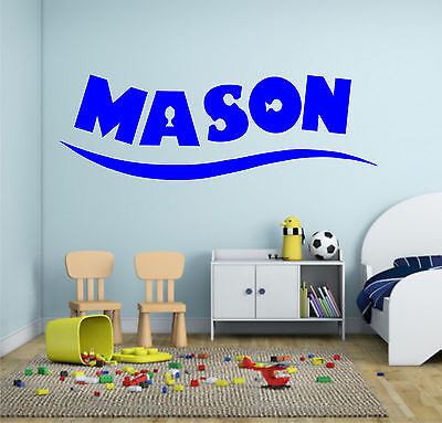 PERSONALISED NAME FINDING Nemo Dory Wall Art Sticker Quote Boys ...