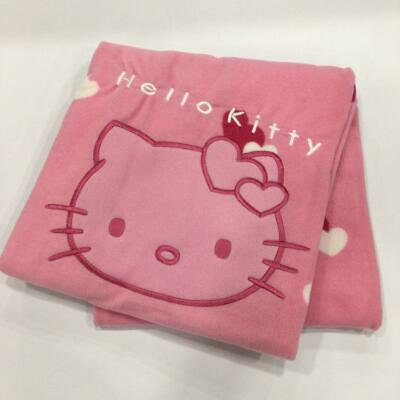 "-STOCK- Plaid in Pile GABEL ricamato originale HELLO KITTY 130X160cm ""Pink Lady"""