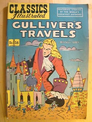 Classics Illustrated Comic Book No 16  Gulliver's Travels Jonathan Swift