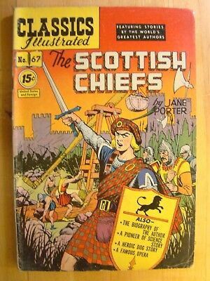 Classics Illustrated Comic Book No 67 1950 Scottish Chiefs Jane Porter Catapult