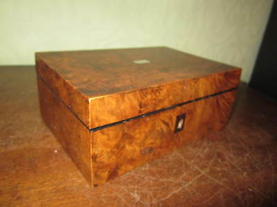 An old walnut or maple box