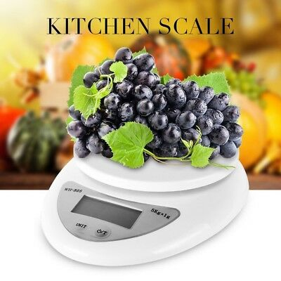 Digital Kitchen Scale 1-5000g Diet Food Compact Electronic Balance Small Weigh