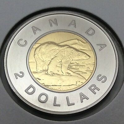 1998 Canada Nickel Specimen 2 Two Dollar Toonie Canadian Uncirculated Coin E192