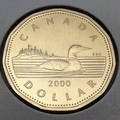 2000 Canada Nickel Specimen 1 One Dollar Loonie Canadian Uncirculated Coin E195