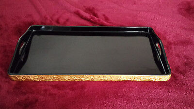 Vintage Fuzhou Black with Gold Lacquer Tray