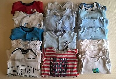 Baby boy sleep suits and vests 9 -12 months, from Tu, George, M & Co.