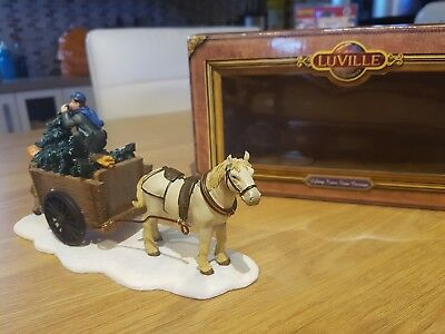 Luville Horse and Cart 'lifting trees from carriage' like Lemax
