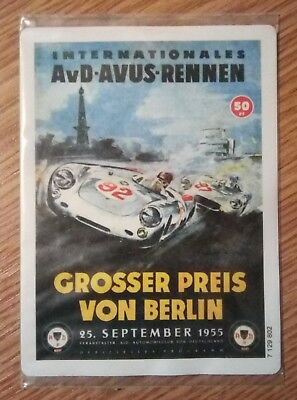 Vintage magnet poster with International-AVD-Avus-RACE-price-of-Berlin-25-9-1955