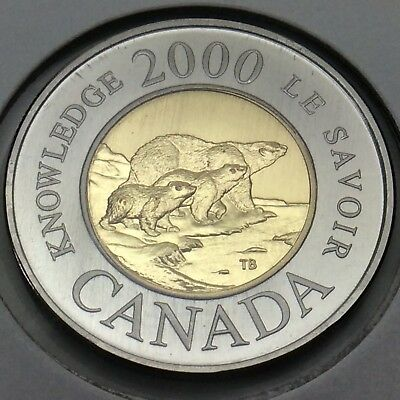 2000 Canada Nickel Specimen 2 Two Dollar Toonie Canadian Uncirculated Coin E196