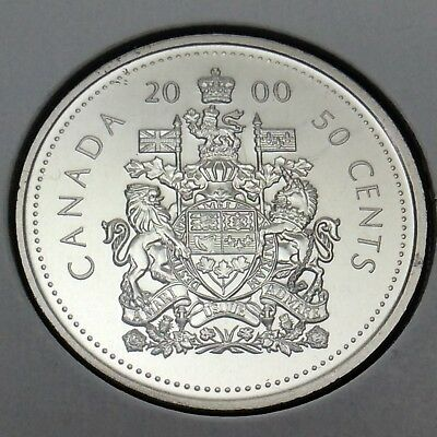 2000 Canada Nickel Specimen 50 Fifty Cents Canadian Uncirculated Coin E197