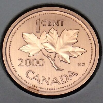2000 Canada Nickel Specimen 1 One Cent Penny Canadian Uncirculated Coin E200