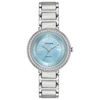 Citizen Eco-Drive Women's Silhouette Crystal Accents 30mm Watch EM0480-52N