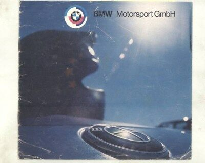 1974 BMW Motorsport 3.0CSL 2002 Formula 2 Race Car Brochure Amon Stuck wz0627