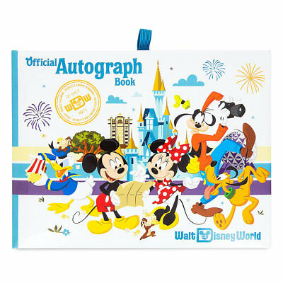 DISNEY Parks AUTOGRAPH Book OFFICIAL WALT DISNEY WORLD Mickey & Friends NEW