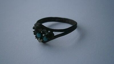Antique RING Bronze OLD Europe 22x18x10 mm 19x18 mm